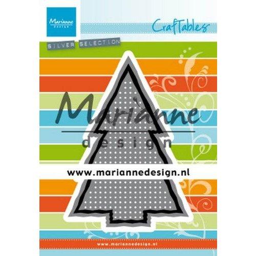 Marianne Design Marianne D Craftable Cross Stitch kerstboom CR1481 74x109 mm