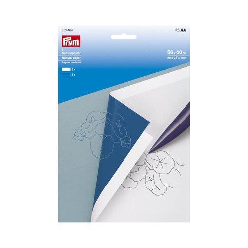 Prym Prym transferpapier 56x40 cm wit-blauw