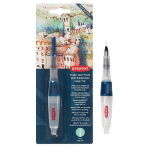 Derwent Derwent Push Button Waterbrush Fine 2 mm