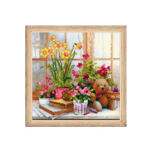 Riolis Riolis borduurpakket Daffodils on the Windowsill 1762