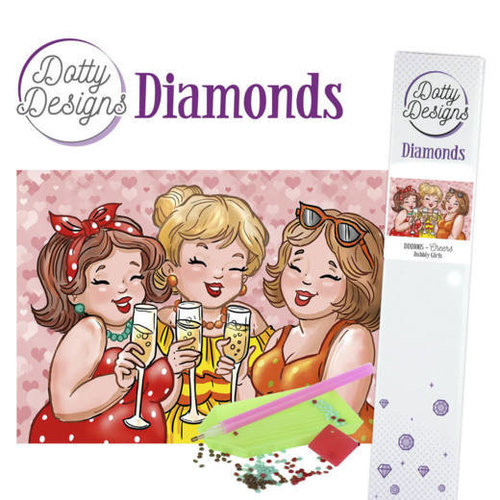 Dotty Designs   Dotty Designs Diamond Painting Dikke Dames Proost