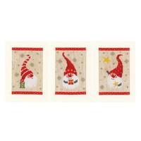 Vervaco Borduurkaarten Kerstkabouters 3 stuks 1084428