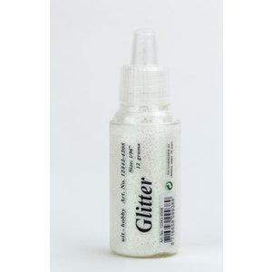 Glitter fijn wit 15 gram