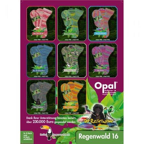 Opal Opal Regenwald 16 150 gram nr 9916 Grijs Groen