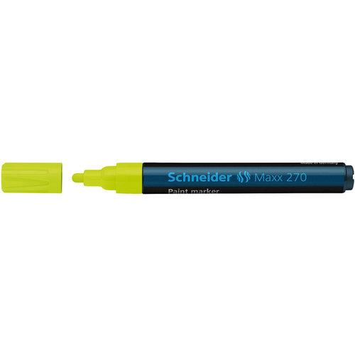 Lakmarker Schneider Maxx 270 1-3 mm fluor geel