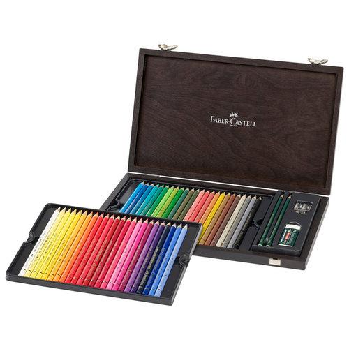 Faber Castell Kleurpotlood Faber-Castell Polychromos assorti kist á 48 stuks met accessoires