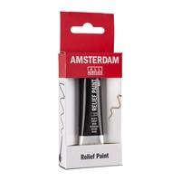 Amsterdam Relief Verf 20ml Zwart 700