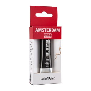 Talens  Amsterdam Relief Verf 20ml Zwart 700