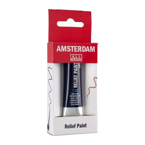 Talens  Amsterdam Relief Verf 20 ml Donkerblauw 502