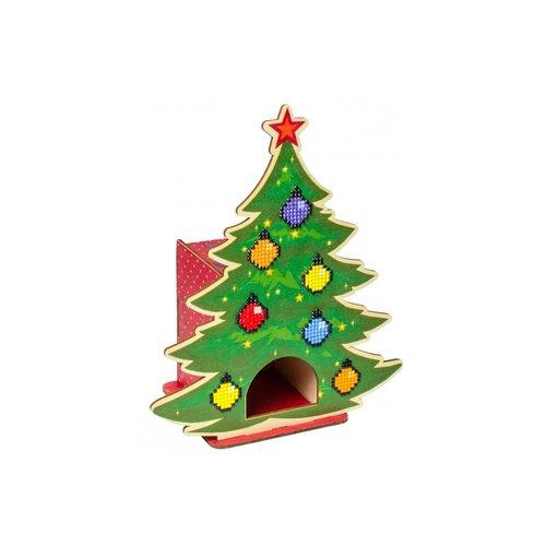 Wizardi Wizardi Diamond Painting Tea House Christmas Tree WW002