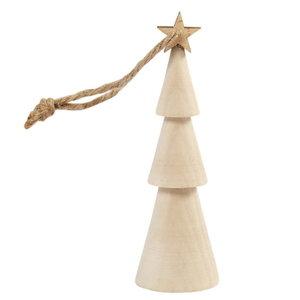 Creotime Houten Kerstboom 9 cm