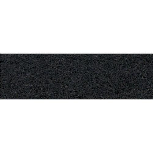 Zwarte wol voor vilten en vulling 40 gram