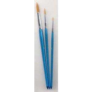 Set met 3 ronde penselen