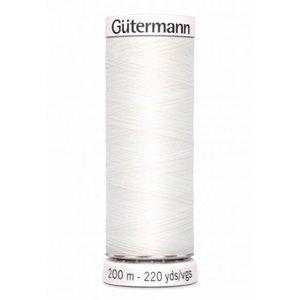 Gutermann Gutermann Naaigaren 200 meter nr 800 Wit