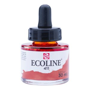 Ecoline Ecoline Vloeibare Waterverf Flacon 30 ml Sienna Gebrand 411