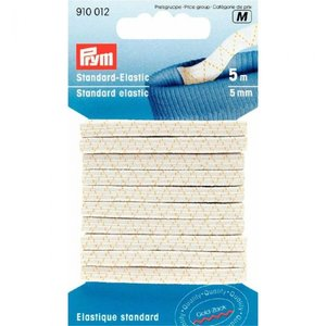 Prym Prym Standaard Elastiek 5mm Wit 5meter