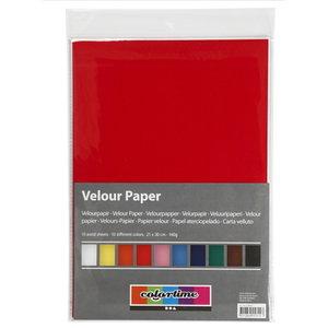 Creotime Velour Papier A4 140 gram 10 vel