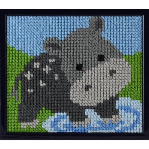 Pako Pako Borduurpakket Nijlpaardje voor kinderen 027.052