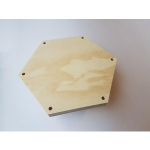 CraftEmotions Macramé Plank zeshoek 21 x 1,8 cm 7mm gaten
