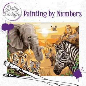 Dotty Designs   Dotty Design Painting by Numbers Safari