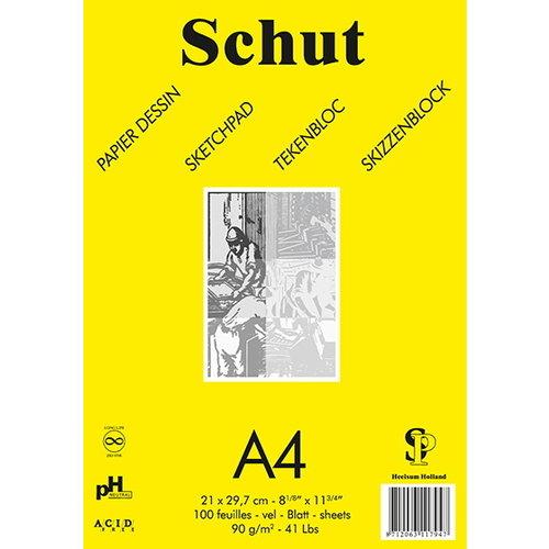 Schut   Schut Tekenblok Dessin 90 gram Geel 100 vel