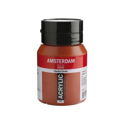 Amsterdam  Amsterdam Acrylverf 500 ml Sienna Gebrand 411