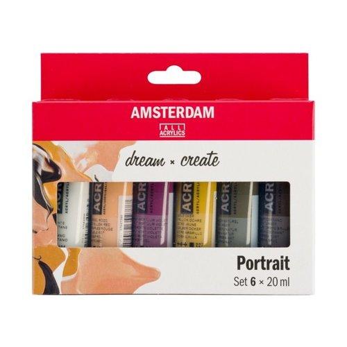 Amsterdam Amsterdam Acrylverf Set 6 x 20 ml Portret kleuren