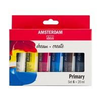 Amsterdam Acrylverf Set 6 x 20 ml Primair