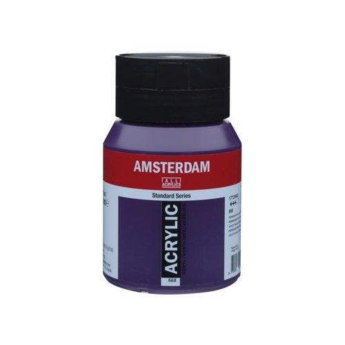 Amsterdam Amsterdam Acrylverf 500 ml Permanentblauwviolet 568