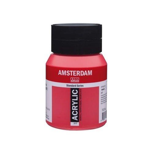 Amsterdam  Amsterdam Acrylverf 500 ml Transparantrood Middel 317