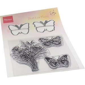 Marianne Design Marianne D Clear Stamp & die set Tiny's Vlinders TC0879 120x185mm (01-21)