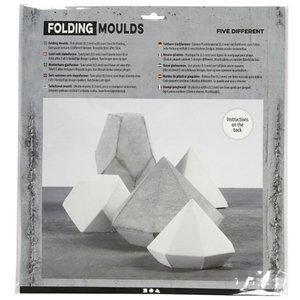 Creotime Gietvormen Geometrische Vormen  6+13 cm Transparant 5 stuks