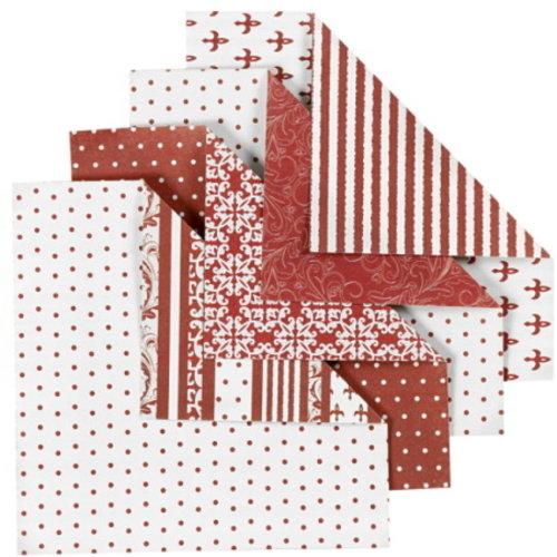 Origamipapier 10 x10 cm 80 gram  50 vellen Roodtinten