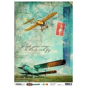 Studio Light Studio Light Rice Paper A4 vel Just Lou Aviation Coll. nr.13 RICEJL13 (10-20)