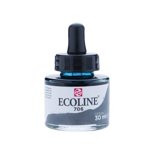 Ecoline Ecoline Vloeibare Waterverf Flacon 30 ml Donkergrijs 706