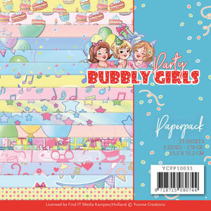 Stitch and Do  Paperpack - Yvonne Creations - Bubbly Girls - Party