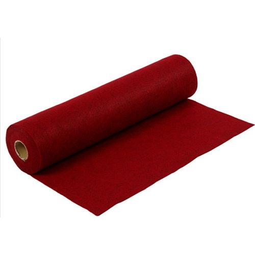 Creotime Rol Hobby Vilt Rood gemeleerd 45 cm x 5 meter x 1,5 mm 180-200 gram