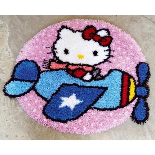 Vervaco Vervaco Smyrna Knooptapijt Hello Kitty in Vliegtuig 0148639