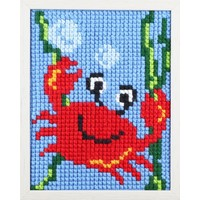 Pako Borduurpakket leuke krab voor kinderen, voorbedrukt