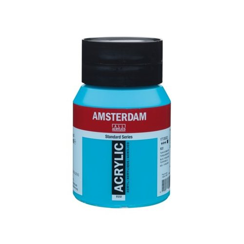 Amsterdam Amsterdam Acrylverf 500 ml Turkooisblauw 522