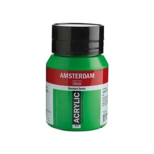 Amsterdam Amsterdam Acrylverf 500 ml Permanentgroen Licht 618