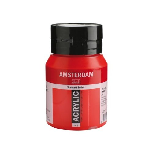 Amsterdam Amsterdam Acrylverf 500 ml Pyrrolerood 315