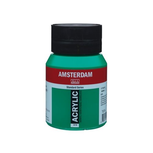 Amsterdam  Amsterdam Acrylverf 500 ml Permanentgroen Donker 619