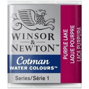 Winsor & Newton W&N Cotman Aquarelverf Half Napje Purple Lake
