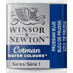 Winsor & Newton W&N Cotman Aquarelverf Half Napje Prussian Blue