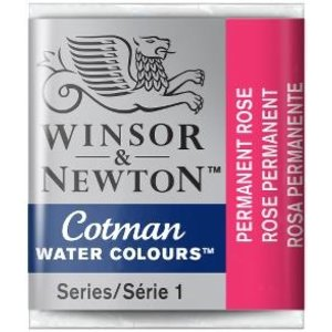 Winsor & Newton W&N Cotman Aquarelverf Half Napje Permanent Rose