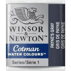 Winsor & Newton W&N Cotman Aquarelverf Half Napje Paynes Gray