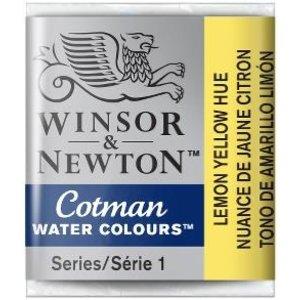 Winsor & Newton W&N Cotman Aquarelverf Half Napje Lemon Yellow Hue