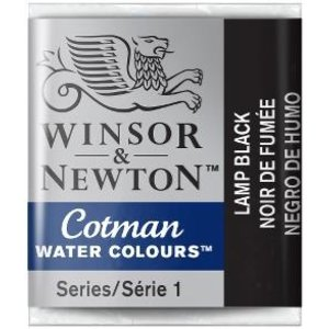 Winsor & Newton W&N Cotman Aquarelverf Half Napje Lamp Black
