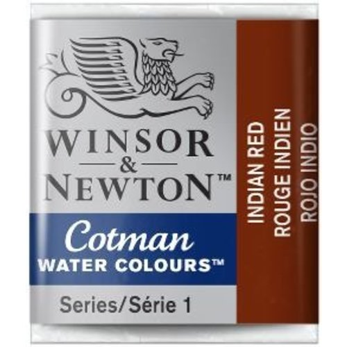 Winsor & Newton W&N Cotman Aquarelverf Half Napje Indian Red